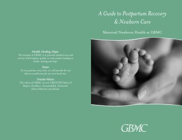 A Guide to Postpartum Recovery & Newborn Care - Greater ...