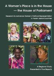 Contents - Pacific Islands Forum Secretariat