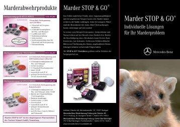 Flyer zum Marderschutz STOP & GO - Mercedes-Benz ...