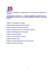 Doing Business in Hungary 2010 - International Franchise Association