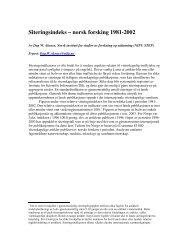 Siteringsindeks – norsk forsking 1981-2002