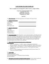 A PST COURSE SYLLABUS TEMPLATE This is a template for ...