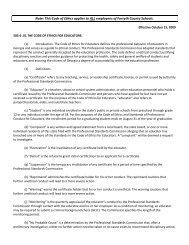 Code of Ethics - Forsyth County Schools