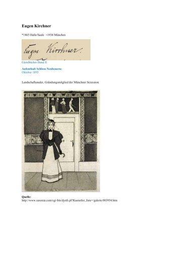 Eugen Kirchner - Gästebücher von Schloss Neubeuern