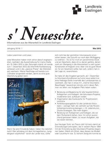 S' Neueschte 1-2012.indd - Landkreis Esslingen