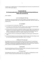 Vergaberichtlinien für Promotionsstipendien der Fakultät ...