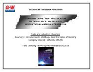 goodheart-willcox publisher tennessee department of education ...