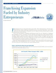 Profile of Franchising Report #8 (December 2007) - International ...