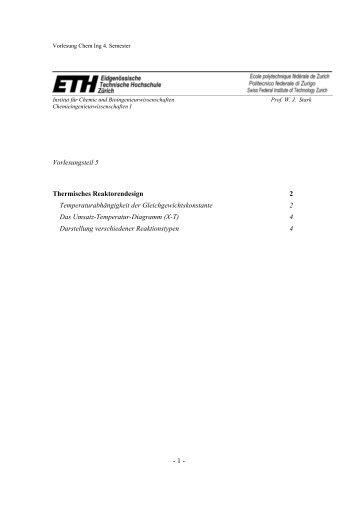 H05 Thermisches Reaktorendesign
