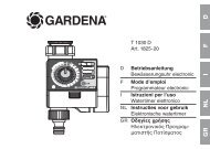 OM, Gardena, T 1030 D, Art 01825, Programmateur electronic, 2013 ...