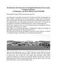 Exkursion des britischen Forstvereins in Thüringen - Deutscher ...