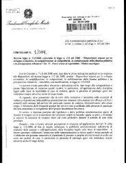 Circolare n. 1/09 - Dipartimento Funzione Pubblica