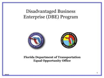 (DBE) Program - Florida Transportation Builders