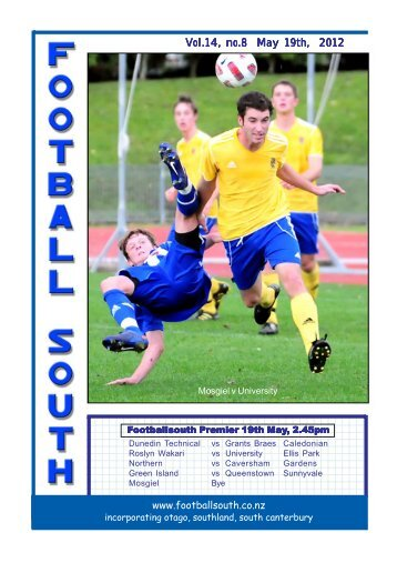5.25 High, 4.25 wide Vol.14, no.8 May 19th, 2012 - Football South