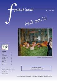 Fysik och liv - Svenska Fysikersamfundet