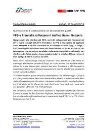 Trenitalia e FFS rafforzano il traffico Italia - Svizzera (.pdf ... - FSNews
