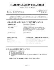 Lactarin® XP 3342 Carrageenan - FMC Corporation
