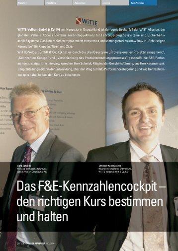 DasF&E-Kennzahlencockpit ... - der f&e manager
