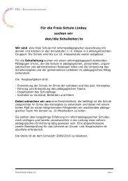 Für die Freie Schule Lindau suchen wir den/die Schulleiter/in