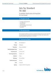 Technisches Datenblatt TA 160 - Bito AG