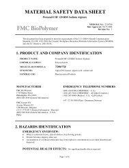 Protanal® HF 120 RBS Sodium Alginate - FMC Corporation