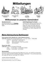 Mitteilungen Willkommen in unseren Gemeinden! - st-nikolaus ...