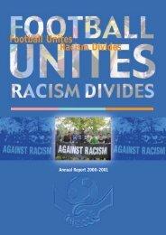 FURD Annual Report - Football Unites - Racism Divides