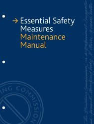 Essential Safety Measures Maintenance Manual - Building ...