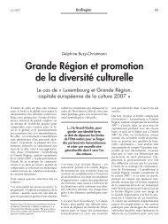 Grande Région et promotion de la diversité culturelle