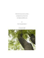 Trees - Frostburg State University