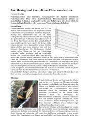 Bau, Montage und Kontrolle von Fledermausbrettern