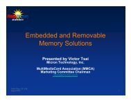 Embedded and Removable Memory Solutions - Flash Memory Summit