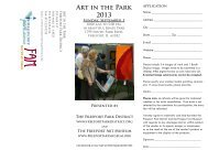 Art in the Park 2013 - Freeport Park District