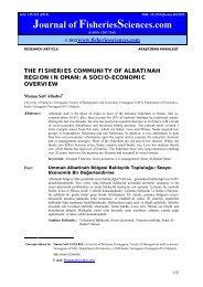 THE FISHERIES COMMUNITY OF ALBATINAH REGION IN OMAN ...