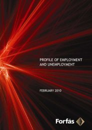 Profile of employment and unemployment February 2010 - Forfás