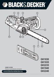 GK1830 GK1935 GK2235 GK1940 GK2240 - Service - Black & Decker