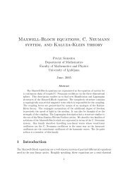 Maxwell-Bloch equations, C. Neumann system, and Kaluza-Klein ...