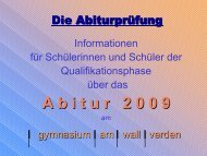 Abi2009 - gymnasium am wall verden