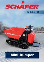 technische daten d650-d mini dumper