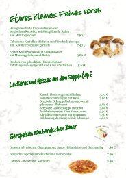 Speisenkarte - Gasthaus Wiesengrund