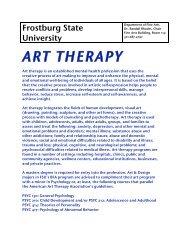 ART THERAPY - Frostburg State University