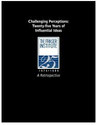 Challenging Perceptions: Twenty-five Years of ... - Fraser Institute