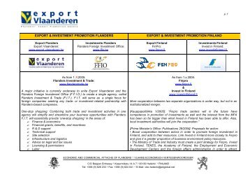 EXPORT & INVESTMENT PROMOTION FLANDERS EXPORT ...