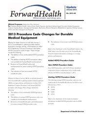 2013-03 - ForwardHealth Portal