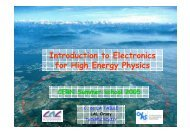 Introduction to Electronics for High Energy Physics C. de LA ... - Fisica