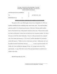 ND-Texas, Sample juror questionnaire