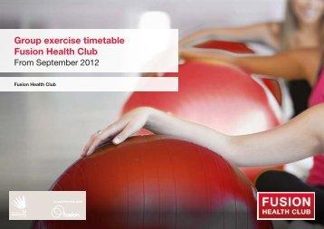 Group exercise timetable Fusion Health Club - Fusion Lifestyle