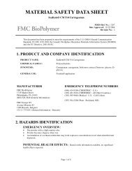 SeaKem® CM 514 Carrageenan - FMC Corporation