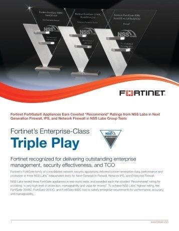 Triple Play - Fortinet