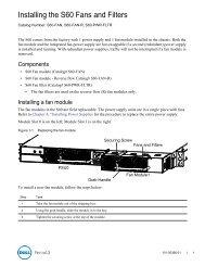 S60 Fan module - Force10 Networks